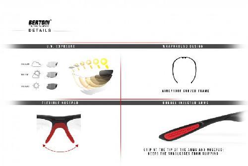 Polarisierten Photochrome Sonnenbrille für Skifahren - Laufen - Driving - Fish by Bertoni Italy - P545FT Selbsttönend (Photochrome Polarisierte Braun) X7uQS6