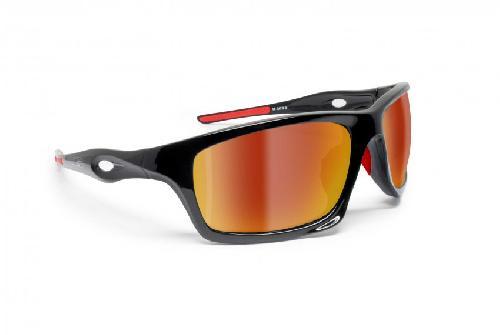 Polarisierten Photochrome Sonnenbrille für Skifahren - Laufen - Driving - Fish by Bertoni Italy - P545FT Selbsttönend (Photochrome Polarisierte Braun) zrz0rBH7n